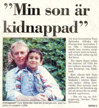The Father and Son one day before the kidnapping 17 August 1993